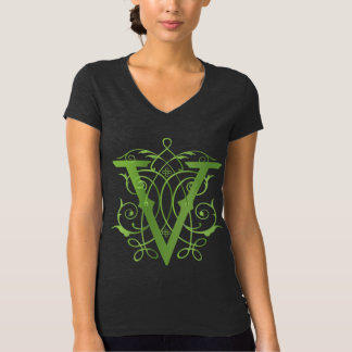 V voor het overhemd van de Veganist T Shirt