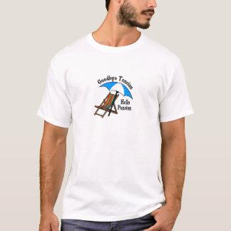 Vaarwel het Pensioen van Hello van de Spanning T Shirt