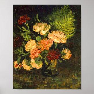 Vaas het Fine Art. met van Anjers (F243) Van Gogh Poster