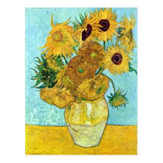 Vaas met Twaalf Zonnebloemen door Vincent van Gogh Briefkaart