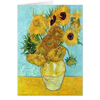 Vaas met Twaalf Zonnebloemen door Vincent van Gogh Kaart