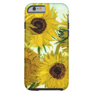 Vaas met Twaalf Zonnebloemen, Van Gogh Fine Art. Tough iPhone 6 Hoesje