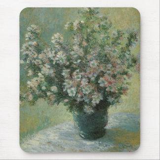 Vaas van Bloemen door Claude Monet, Vintage Fijn Muismat