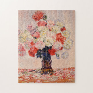 Vaas van het Fijne Art. van Monet van Pioenen Puzzel