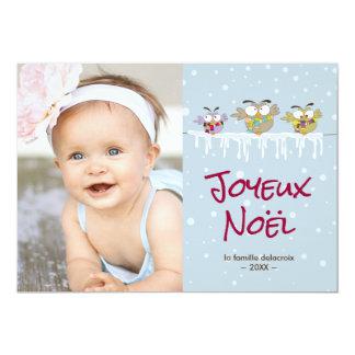Vacances van Noël van Joyeux carte DE photo DE 12,7x17,8 Uitnodiging Kaart