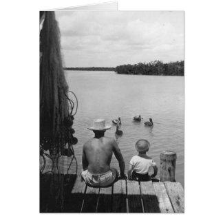 Vader en Zoon, Marco Eiland, Florida, 1966 Wenskaart