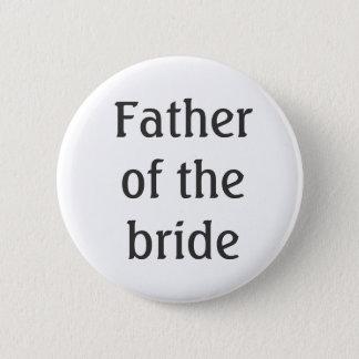 Vader van de Knoop van de Bruid Ronde Button 5,7 Cm