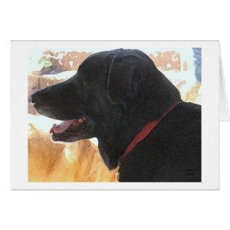 Vaderdag - de Zwarte Minnaar van de Labrador Wenskaart