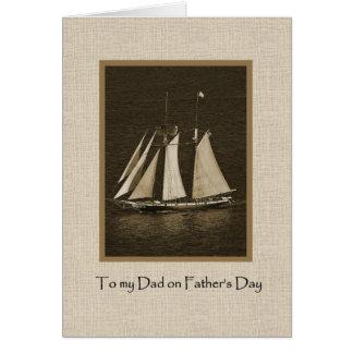 Vaderdag - het Canvas van de Boot van het Zeil Wenskaart