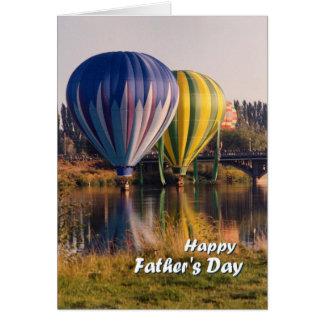 Vaderdag, hete luchtballons wenskaarten
