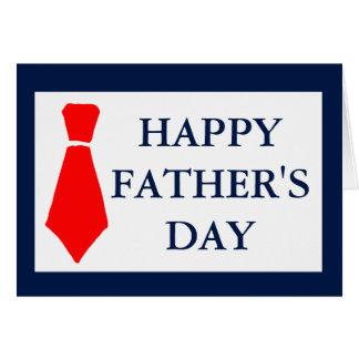 Vaderdag van de Rode van het Stropdas van de Wenskaart