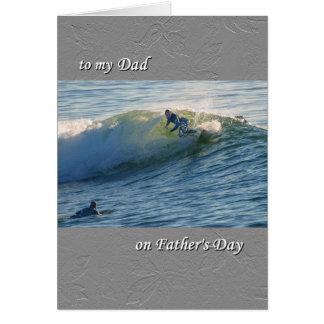 Vaderdag, voor Papa, surfers het surfen Kaart