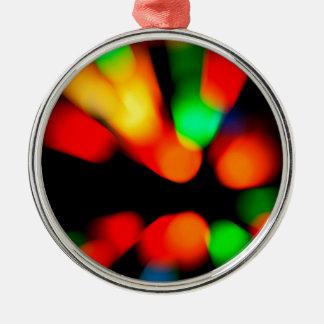 Vage kleurenachtergrond zilverkleurig rond ornament