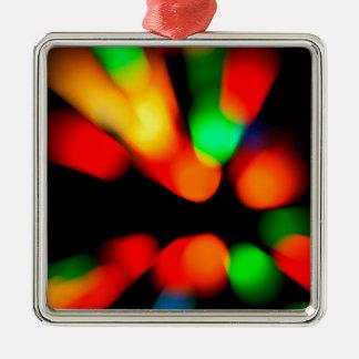 Vage kleurenachtergrond zilverkleurig vierkant ornament