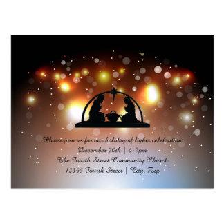 Vakantie van de Geboorte van Christus van Lichten Briefkaart