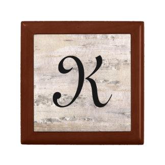 Vakje van de Herinnering van de Brief K van de Decoratiedoosje