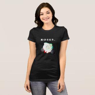 """Valencia """"Rozen."""" Het Zwarte T-shirt van vrouwen"""