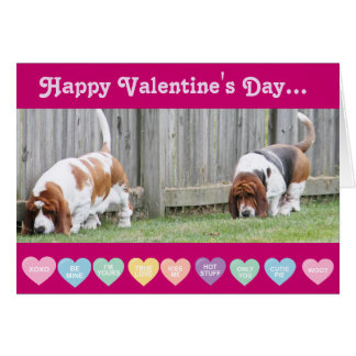 Valentijn - Bassets op de Grappige Kaart van de