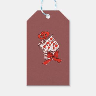Valentijn Cupcake Cadeaulabel