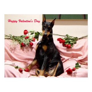 Valentijn Dobercard Briefkaart