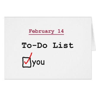 Valentijn: Grappig aan-maken van een lijst Kaart