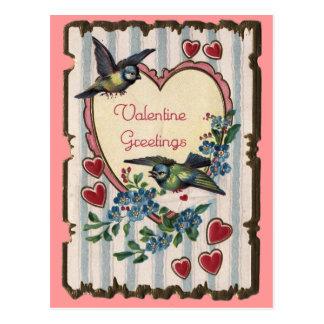 Valentijn met vogelsbriefkaart briefkaart