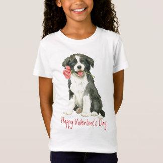 Valentijn nam Border collie toe T Shirt