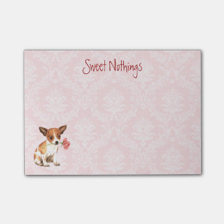Valentijn nam Chihuahua toe Post-it® Notes