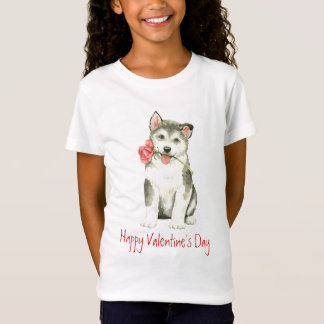 Valentijn nam Malemute toe T Shirt