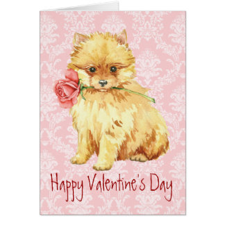 Valentijn nam Pomeranian toe Kaart