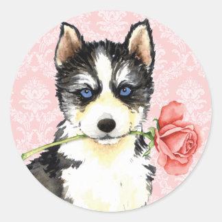 Valentijn nam Schor toe Ronde Sticker