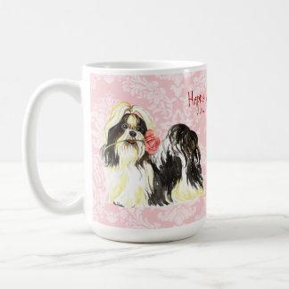 Valentijn nam Shih Tzu toe Koffiemok