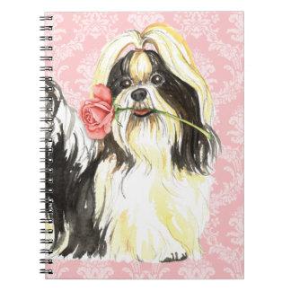 Valentijn nam Shih Tzu toe Notitieboek