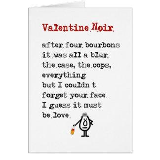 Valentijn Noir - een grappig gedicht voor uw Wenskaart