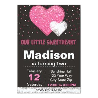 Valentijn schittert de Uitnodiging van de Partij