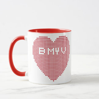 Valentijns Pixel B MIJN V Mok