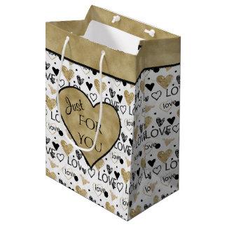 Valentijnsdag - de Patronen Blk/Brz van het Hart Medium Cadeauzakje