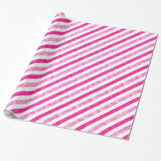 Valentijnsdag - de Roze Flikkering van Strepen Inpakpapier