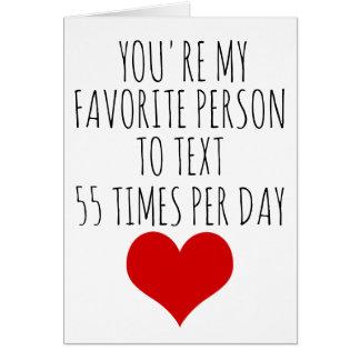 Valentijnsdag kaart u mijn favoriete persoon bent