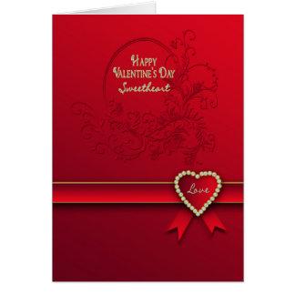 Valentijnsdag - Liefje - Rood/Hart/romantisch Kaart