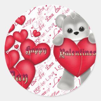 Valentijnsdag Ronde Sticker