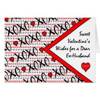 Valentijnsdag voor ex-Echtgenoot, Ontwerp XOXO Wenskaart