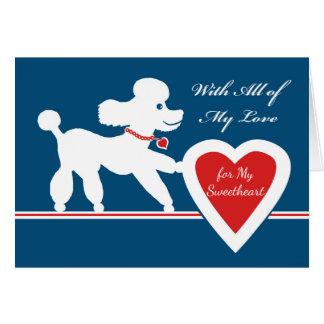 Valentijnsdag voor Liefje, Leuke Poedel Kaart