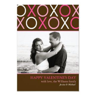 Valentijnsdag XOXO 12,7x17,8 Uitnodiging Kaart