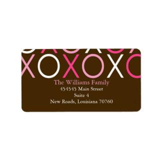 Valentijnsdag XOXO Etiket