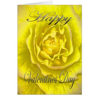 Valentijnse Bloem in Geel en Roze Briefkaarten 0