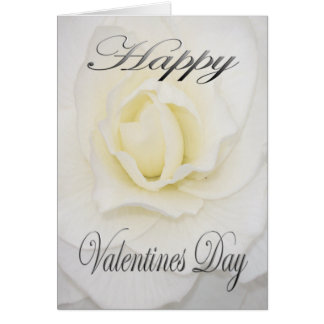 Valentijnse Bloem in Wit Briefkaarten 0