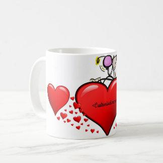 Valentijnse Engel op een hart Koffiemok