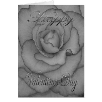 Valentijnse zwart-witte Bloem Kaart