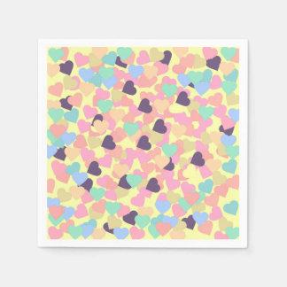 valentijnskaart harten wegwerp servet